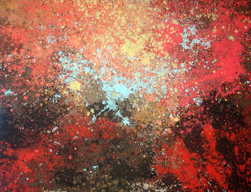 1-1Lieu Nguyen Huong Duong, Summer - Fall, 2010, Acrylic On  Canvas 100 x 130cm copy