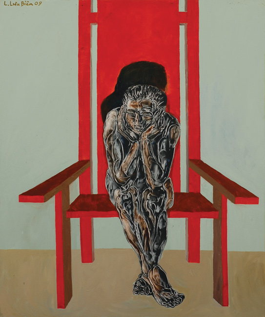 Man on A Red Chair