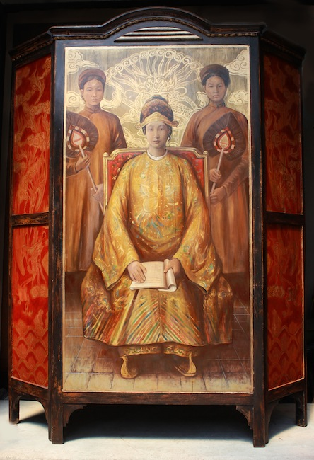 Portrait of Empress Nam Phuong 2_2013_oil and lacquer on wood_180 _x 35.5 x 89.5 x 35.5 cm