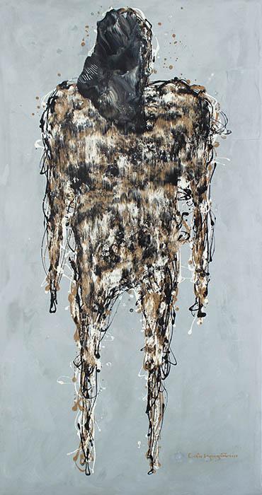 Lieu Nguyen_Meo Mo 14_2010_Industrial paint_150 x 80 cm