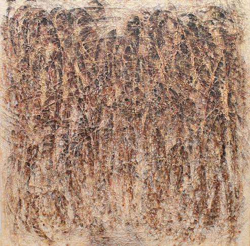 Mac Hoang Thuong_After The Harvest_Mixed media on canvas_120 x 120 cm