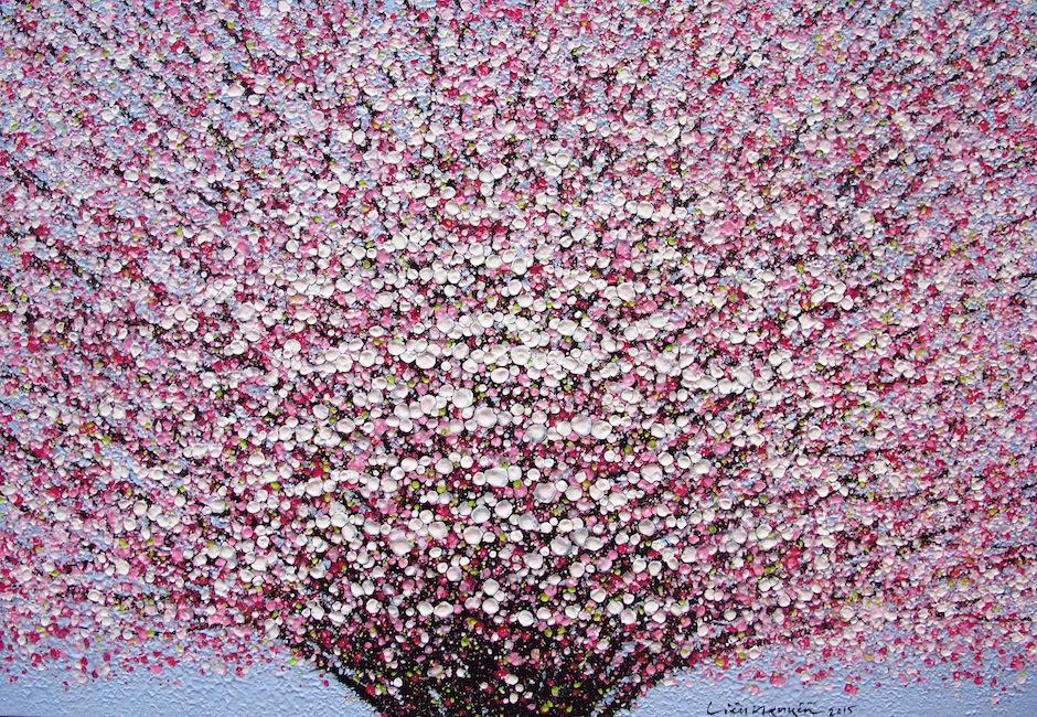 Lieu Nguyen - Cherry Blossom (Ginny)- 2015-Acrylic on canvas - 90 x 130 cm