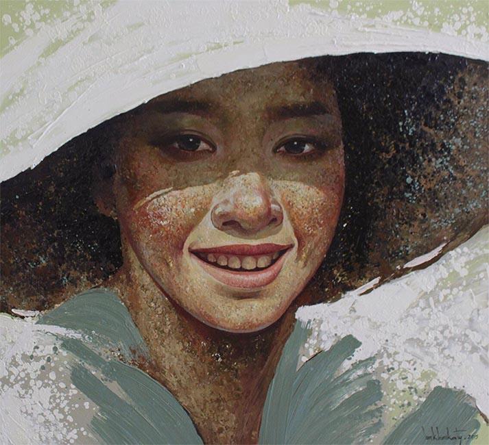 Lim Khim Ka Ty_Happiness_Noi Niem Hanh Phuc_2015_Oil on canvas_90x100cm