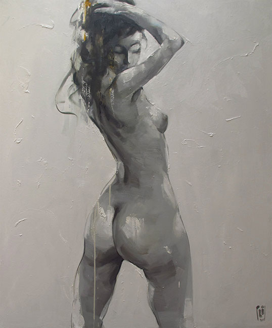 Phuong Quoc Tri_Nude 3_2015_130 x 110 cm_Oil on canvas