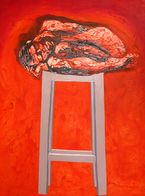 LLB 1_Sacrifical Dream_2010_Mixed media on canvas_130 x 100 cm