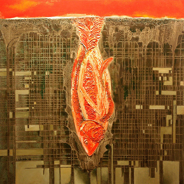 Red Fish_2009_Mixed media on canvas_120 x 120 cm copy