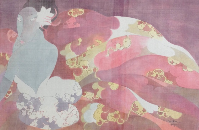 Bui Tien Tuan, Untitled 1, Ink and water color on silk, 60 x 90cm, 2015