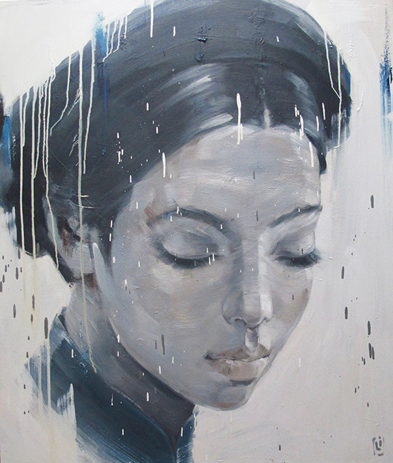 Phuong Quoc Tri_Lady In Memorial_2014_Oil on canvas_130 x 110 cm copy