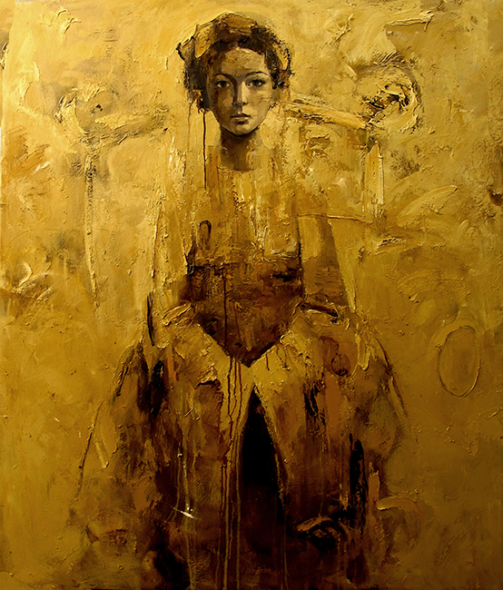 Phuong Quoc Tri_Lady of The Past 2_Thieu Nu Xua 2_2014_Oil on canvas_110x130cm