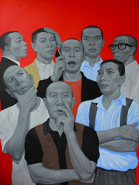 Red stok 120x160cm, oil, 2015