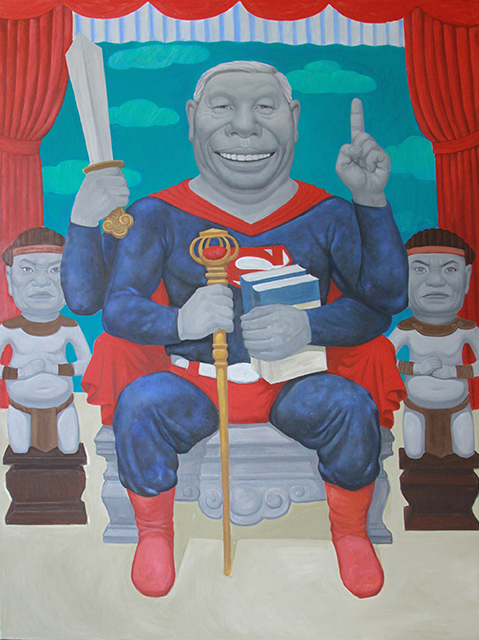 Vietnam's Superman 120x160cm, oil, 2015