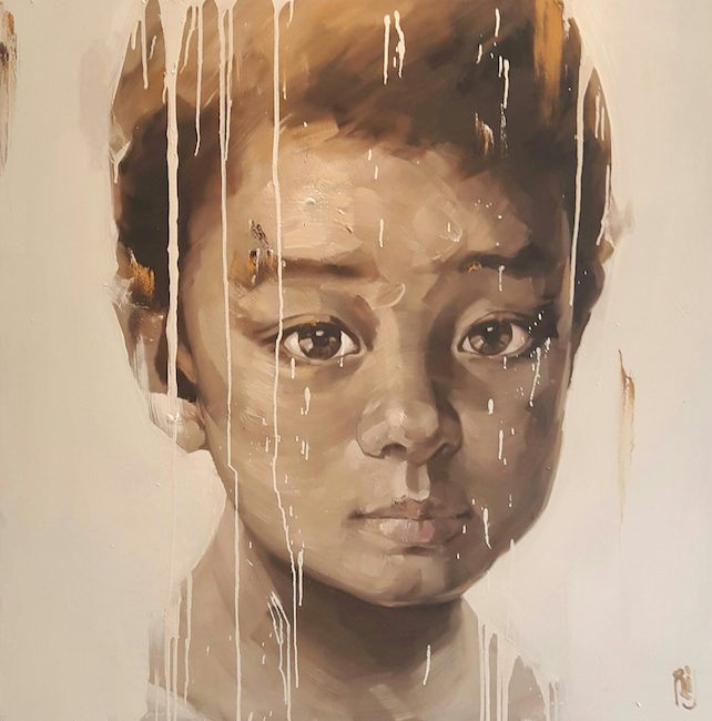 Phuong Quoc Tri _Portrait of Kid_2015_oil on canvas_ 120 x 120 cm