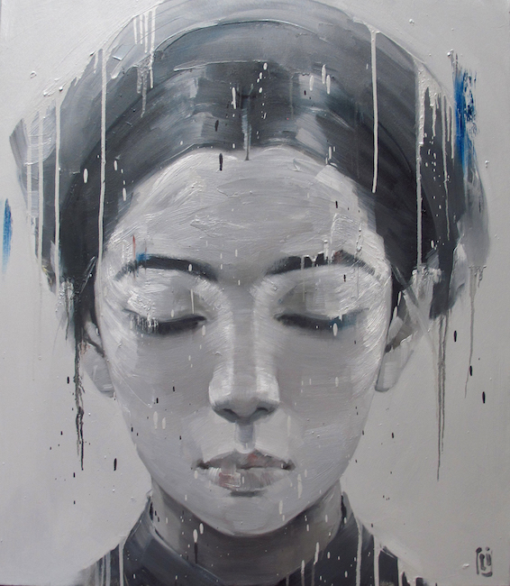 Phuong Quoc Tri_Lady of the Past, 2015_Oil on canvas_100 x 115 cm