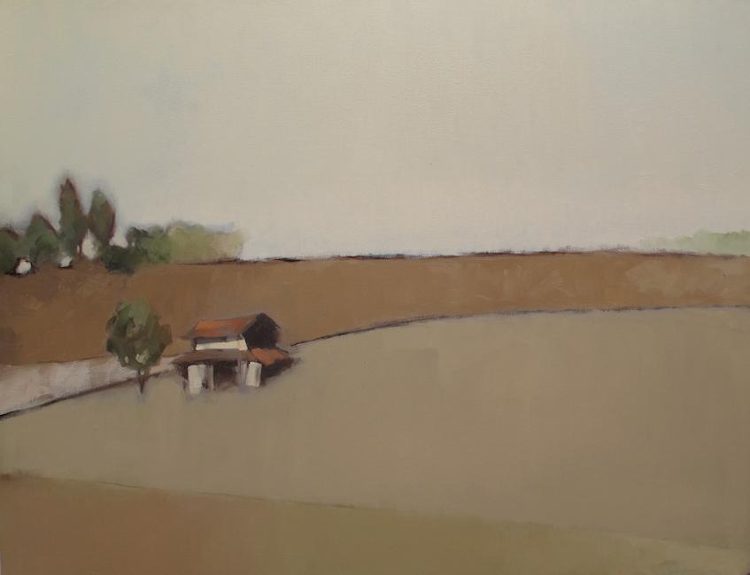 2018_Nguyen Thanh Binh_Ngoi Nha Nho Duoi Chan Doi_2016_ oil on canvas_100 x 130 cm