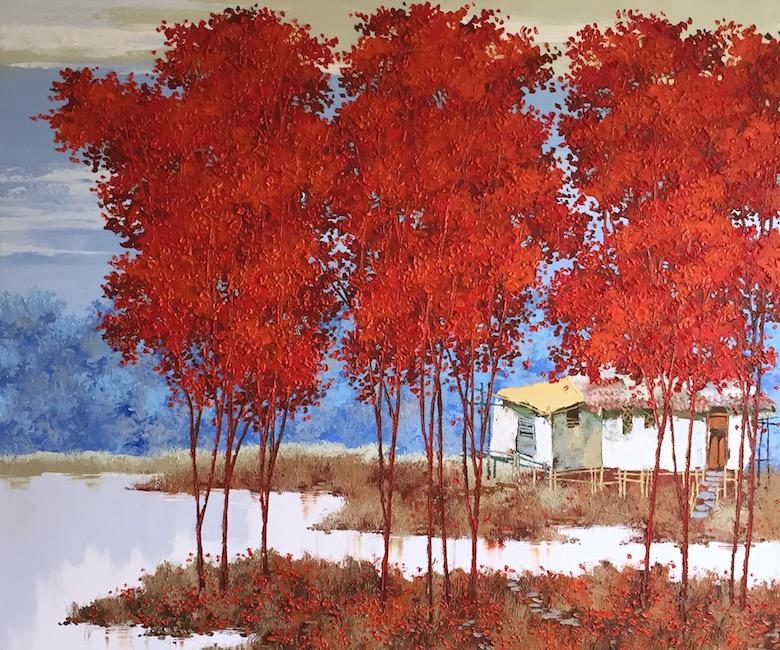 Ka Ty - new landscape 1_Oil on canvas
