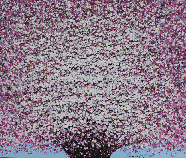 Lieu Nguyen_Hoa Dao 1_Cherry Blossom 1_2017_Acrylic on canvas_110 x 130 cm