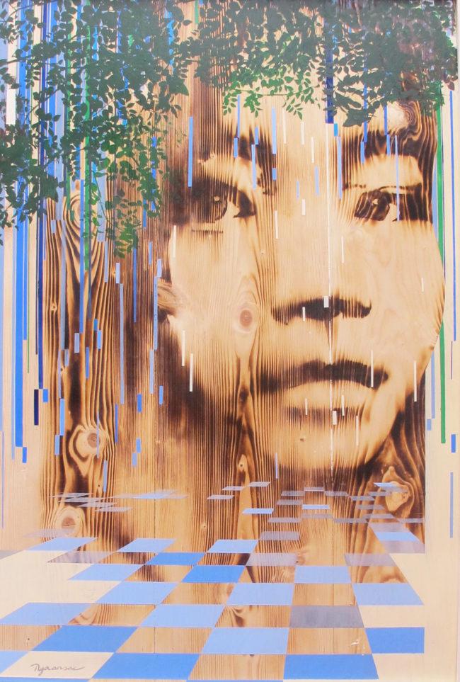 Ngo Van Sac_Childhood Memory 1_Ki Uc Tuoi Tho 1_2016_Acrylic, wood burn_120 x 80 cm