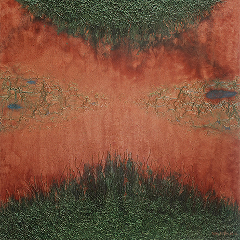 The Encroachment No 10. Acrylic on canvas. 100 x 100 cm. 2012