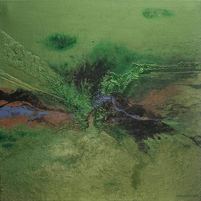 The Encroachment No 18. Acrylic on canvas. 100 x 100 cm. 2012 copy