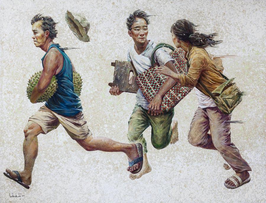 Lim Khim Ka Ty_Escape_Oil on canvas_2017_145 x 190 cm