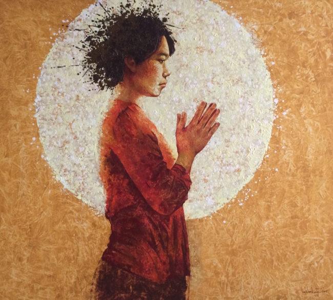 Lim Khim Ka Ty_SELF-ENQUIRY MEDITATION_Oil on canvas_2017_140 x 155 cm