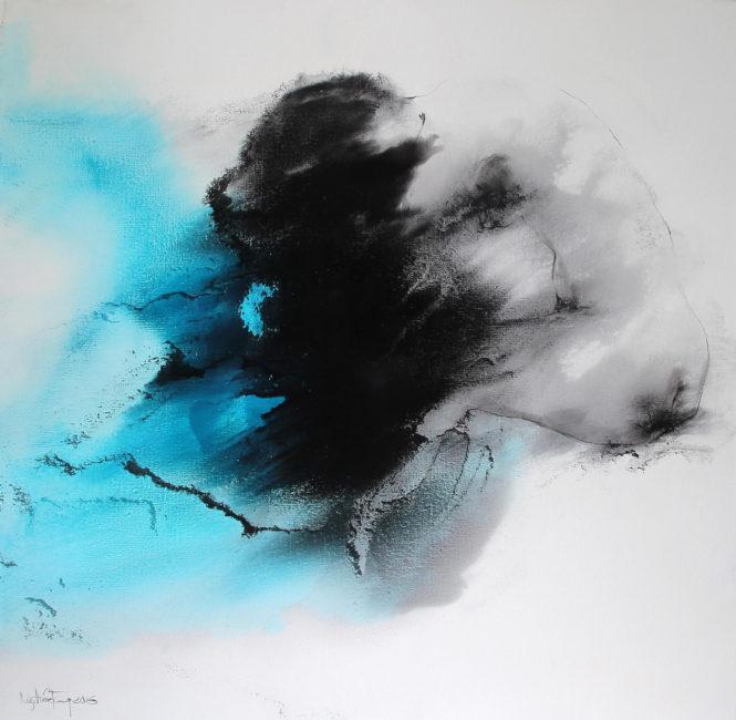 Nguyen Quoc Trung_Blue Space 1_2016_Oil on canvas_90 x 90 cm