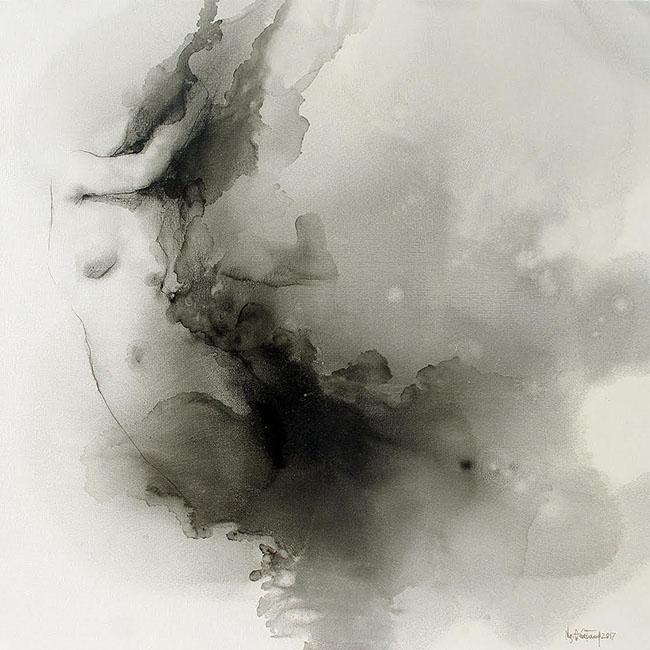 Nguyen Quoc Trung_Smoke Color 2_Mau Khoi 2_2017_Oil on canvas_90 x 90 cm
