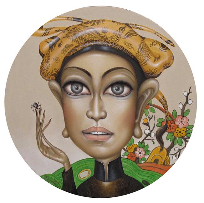 Bui Thanh Tam_Thiếu Nữ Việt Nam 1_Young Girl Vietnamese 1_Sơn dầu trên toan_Oil on canvas_80 x 80 cm_2017