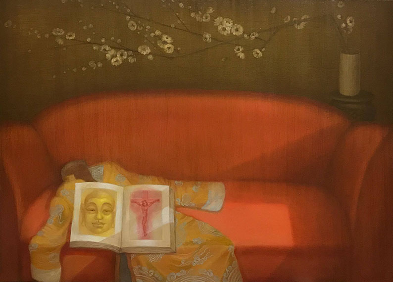 Bùi Thanh Tâm_Abandoned By Heaven_Giấc Mộng Tàn_2017_Oil on canvas_90 x 120 cm