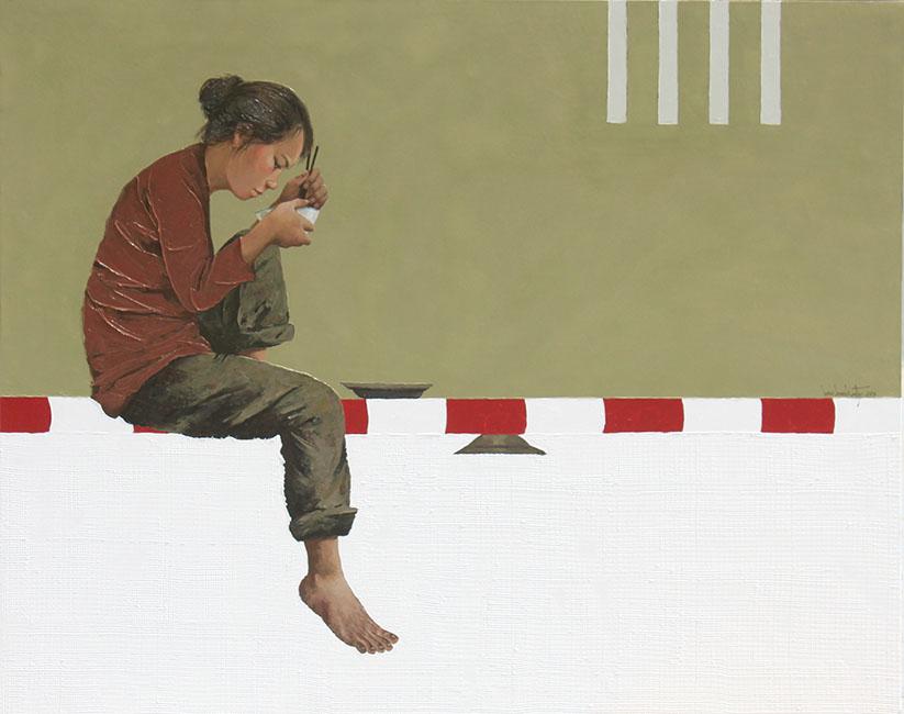 Limkhimkaty, Emptybow_2011, Oill on canvas, 120x150cm
