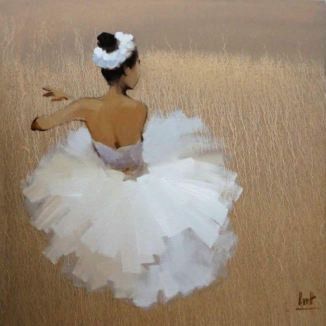 Nguyen Thanh Binh_Ballerina_2017_80 x 80 cm _oil on canvas