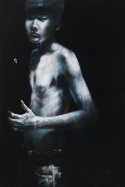SOLD_TTL_Portrait and Coin_Chan Dung Va Dong Xu_2016_Acrylic on canvas_150 x 100 cm (1)