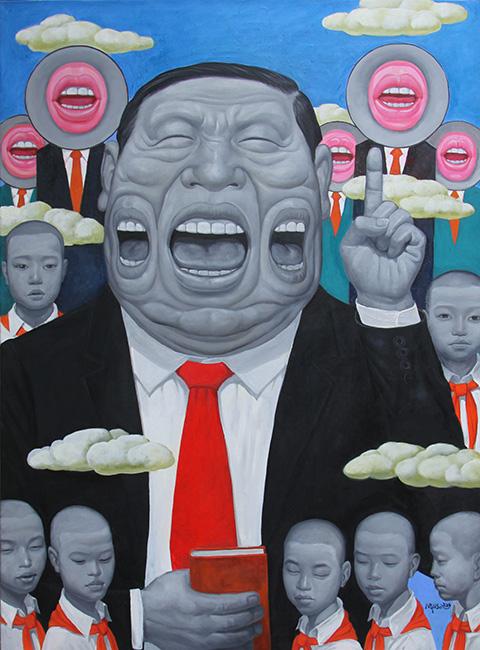 10_NHS_ Truyen Thong_Multi Media_2016_ Oil on canvas_160 x 120 cm