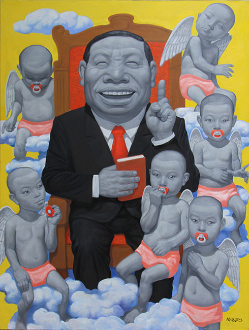 11_NHS_ Nha Dau Tu_Investors_2016_ Oil on canvas_160 x 120 cm