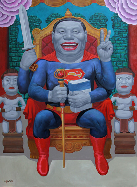 12_NHS_Viet Nam Sieu Nhan_Vietnam's Superman_2016_Oil on canvas_160 x 120 cm