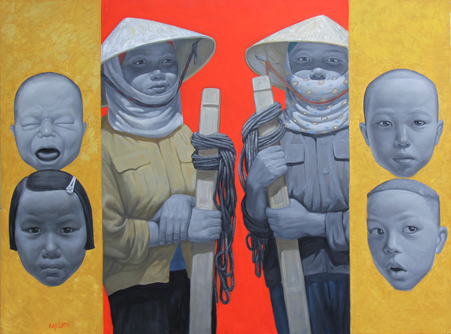 Nguyen Hung Son_Doi Viec_Waiting For Jobs_2017_Oil on canvas_160 x 120 cm