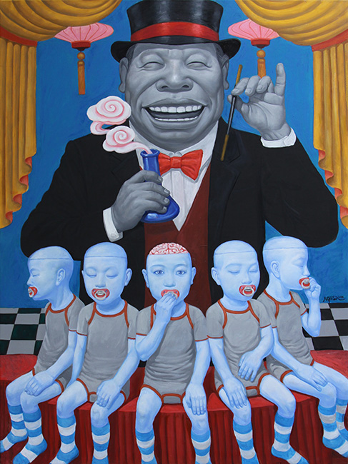 Nguyen Hung Son_Nha Ao Thuat_The Magician_2016 _Oil on canvas_160 x 120 cm