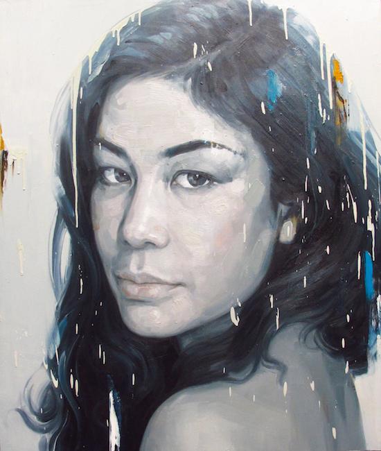 Phương Quốc Trí, Chân Dung, 2, Portrait 2, Oil on canvas, Sơn dầu trên vải bố, 2017, 110 x 130 cm