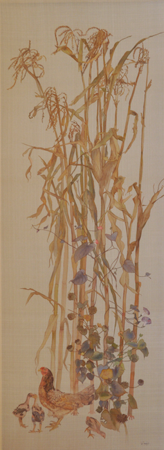 Le Thuy_ Walking in the garden VI_62x170cm_2017_ silk painting copy