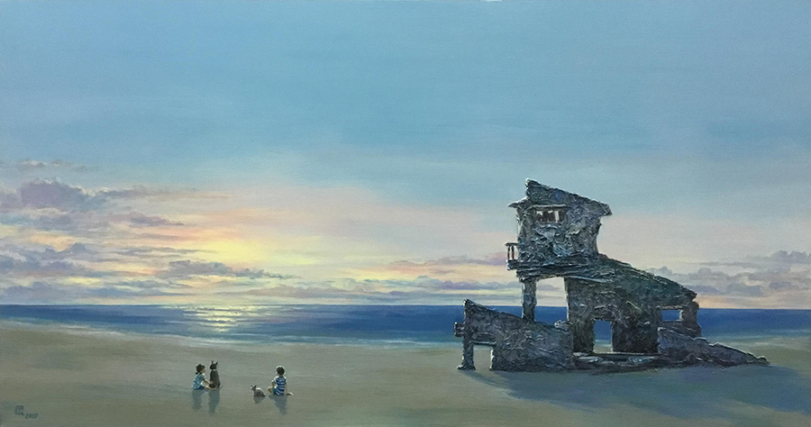 1 Tran Quoc Tuan_Binh Minh 2_Sunrise 2_2018_Acrylic on canvas_80 x 150 cm