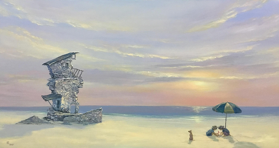 Tran Quoc Tuan_Binh Minh 1_Sunrise 1_2018_Acrylic on canvas_80 x 150 cm