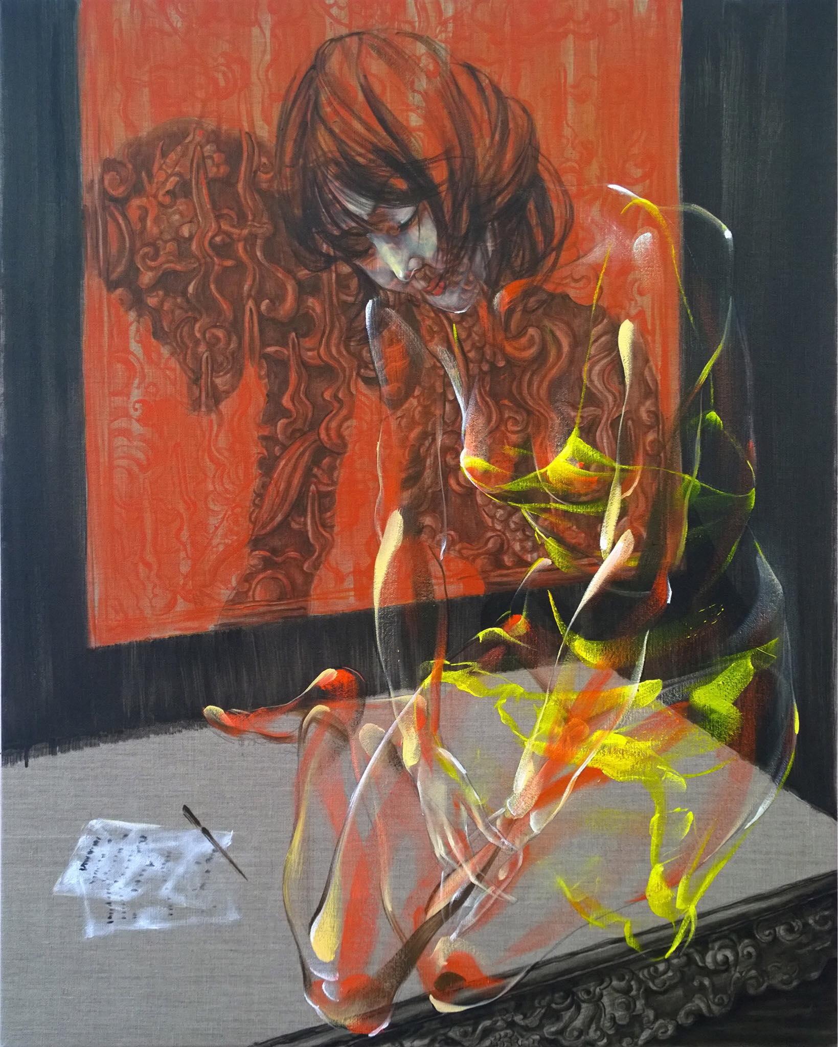MNN_ Buc Thu_Letter_2017_Oil on canvas_100 x 80 cm