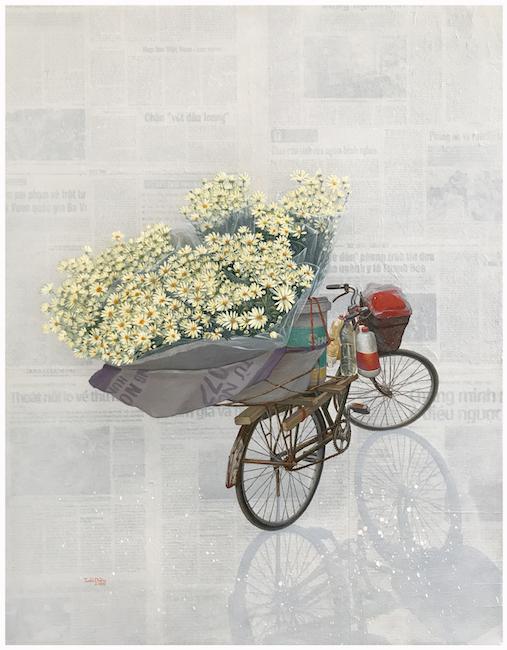 Nguyen Tuan Dung_Hoa Mi Trong Nang_Flower Under Sunshine_- acrylic - 90x70cm - 2-18
