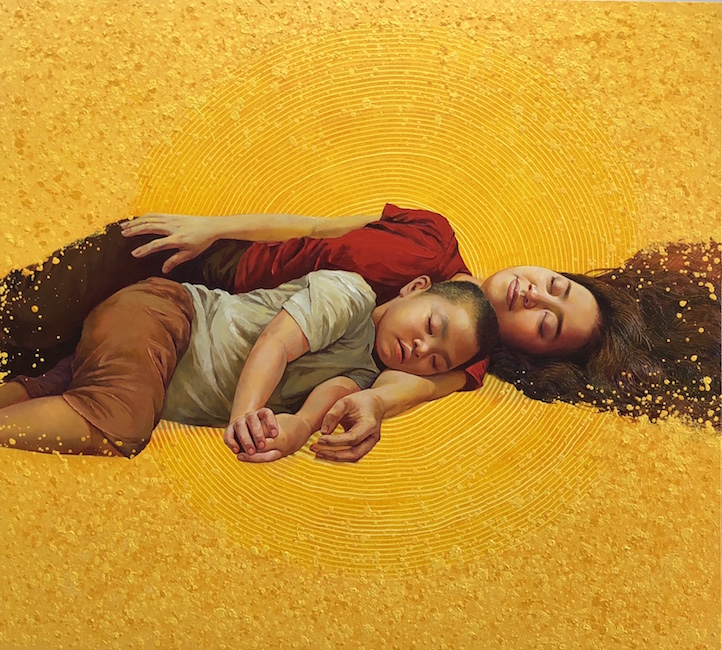 Ka Ty_Me Con_ Mother And Child_2018_Oil on canvas_140 x 155 cm