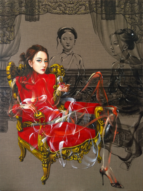 Nguyen Minh Nam_Before The Wedding_2018_Oil on canvas_160 x 120 cm