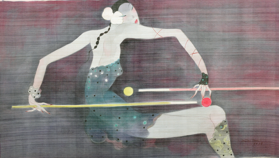 Phuong LOLITA -74cm x 127cm -muc acrylic tren lua -2018