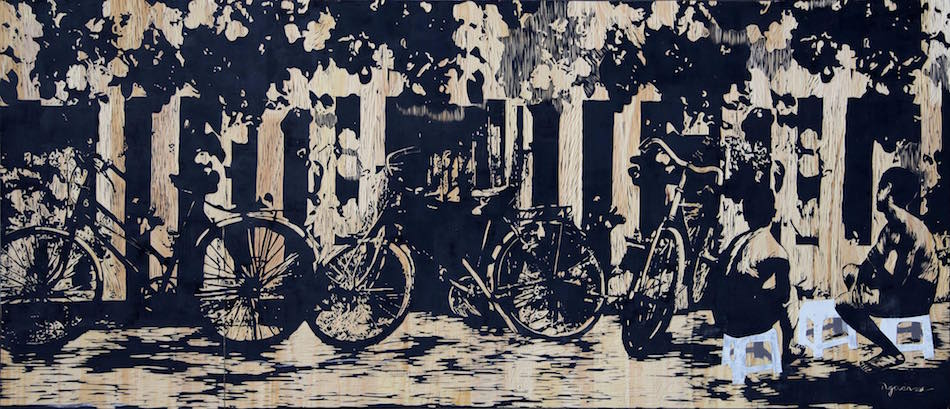 NVS_Long day_Ngay Dai_2018_Wood Engraving_68 x 158 cm
