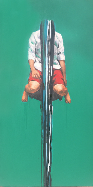 Nguyen Trong Minh_Kiet Suc_ Exhausted_2018_Oil on canvas_200 x 100 cm
