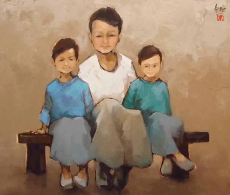 3_Final _Nguyen Thanh Binh_Portrait of Three Borthers_2018_Oil on canvas_80 x 90 cm.jpg