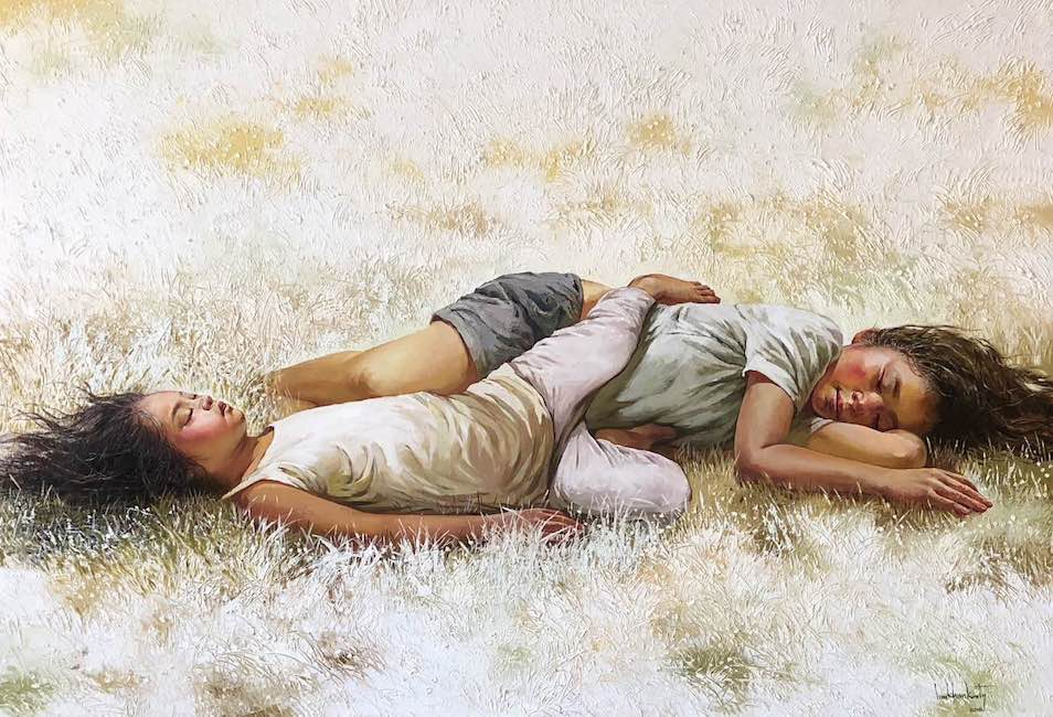 Lim Khim Ka Ty, Taking a Nap, Oil on canvas, 110 x 160cm copy